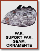 Far, suport far, geam far, ornamente